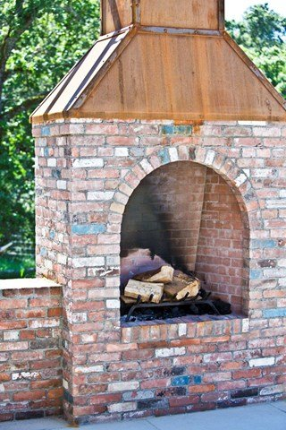 New outside chimney project. Built completely from brewery brick, able to endure any type of weather.