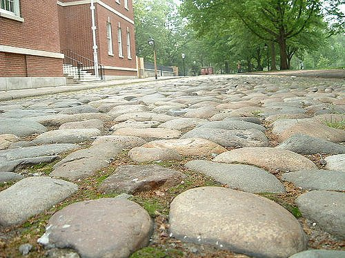 Cobblestone in the United States