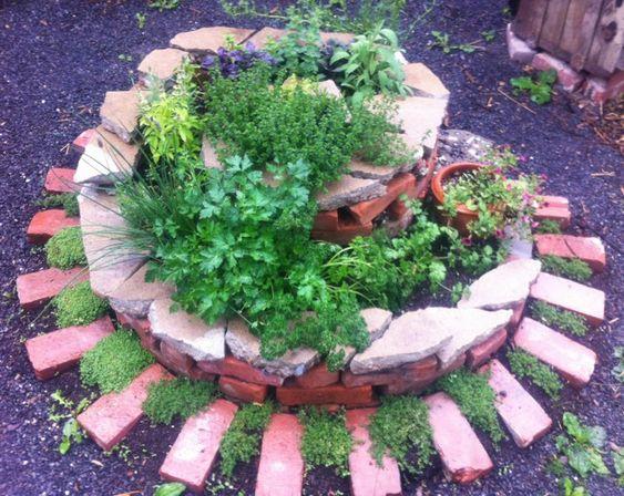 Herb spiral stone small stone full flower bricks medicinal herbs