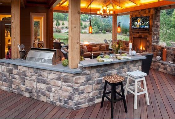 Outdoor Brick Kitchen Designs Patio Kitchen Ideas