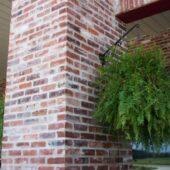 Pillar built with Antique St. Louis Bricks