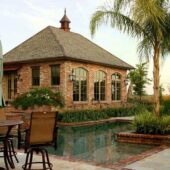 Beautiful house built with Antique St. Louis Bricks. You can view the outdoor pool.