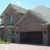 Diagonal view of a house built with purington pavers.