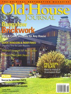 front cover of the Old House Journal Bungalow Brickwork magazine
