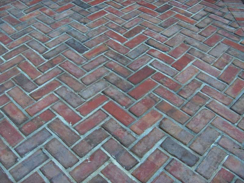 close up of the paving bricks used for a pool project
