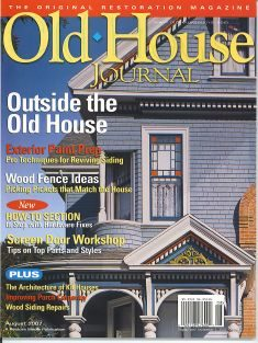 Old House Journal Outside the Old House Edition