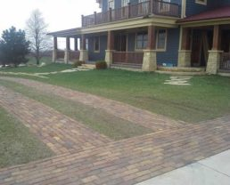 Reclaimed Antique Street Pavers Driveway Example for Tom Frank Lloyd Wright Pavers
