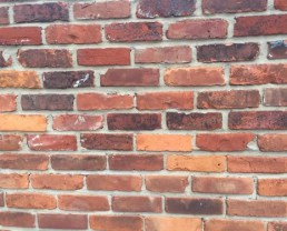 Close up photo of a brick built with Antique Warehouse Reds