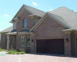 Diagonal photo of a house built with Purington Pavers.