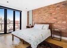 Antique Warehouse Red Brick Veneer | Bedroom