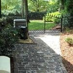 newly finished antique brick patio project
