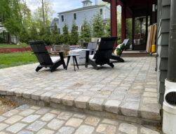 old charlottesville bluestone cobble - back patio ideas