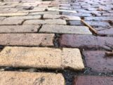 Antique Mack Pavers Close Up Photo of Paving