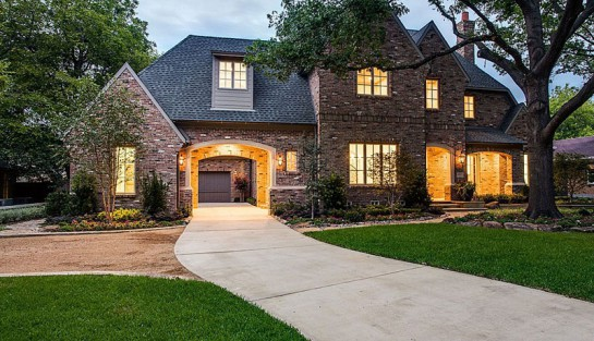 Dallas Texas Home Built With A Custom Antique Warehouse Red Brick Exterior